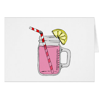 Pink Lemonade Mason Jar Card