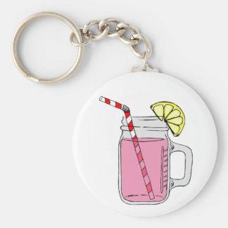 Pink Lemonade Mason Jar Keychain