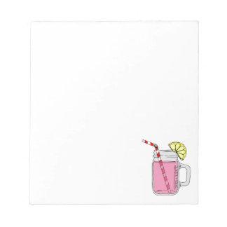 Pink Lemonade Mason Jar Scratch Pad