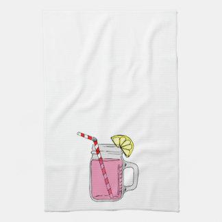 Pink Lemonade Mason Jar Towels