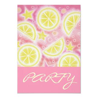 Pink Lemonade 'PARTY' invitation pink