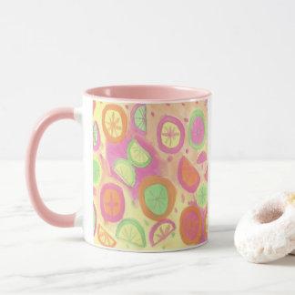 Pink Lemonade Pattern Mug