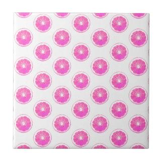 Pink Lemonade Polka Dot Pattern Tile