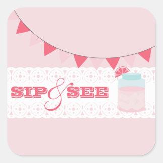 Pink Lemonade Sip And See Sticker