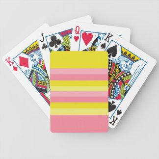 Pink Lemonade Stripe - Playing Cards