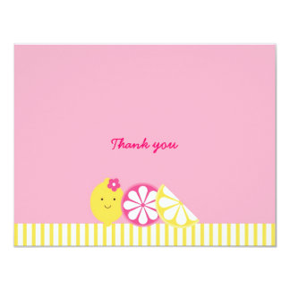 Pink Lemonade Thank You Note Cards