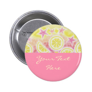 Pink Lemonade Your Text button badge pink