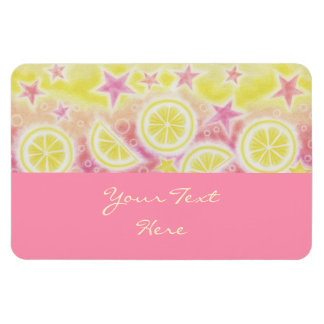 Pink Lemonade 'Your Text' premium magnet pink