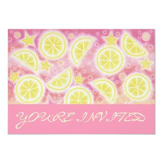 Pink Lemonade 'You're Invited' invitation pink