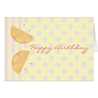 Pink Lemons Card