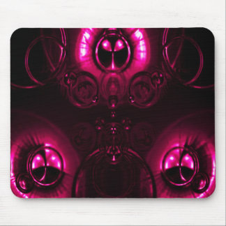 Pink Lens Flare Mouse Pad