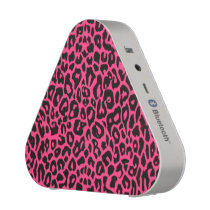 Pink Leopard Animal Print Bluetooth Speaker