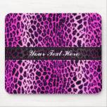 Pink Leopard Animal Print Custom Mouse Pad