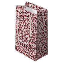 Pink Leopard Animal Print Pattern Small Gift Bag