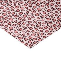 Pink Leopard Animal Print Pattern Tissue Paper
