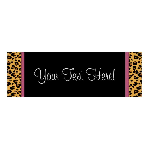 Pink Leopard Baby Shower Banner Posters