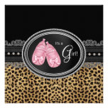 Pink Leopard Baby Shower Personalized Invite