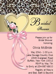 Leopard bridal shower invitations zazzle pink leopard black gold leopard bridal shower invitation filmwisefo