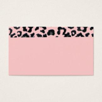 Pink Leopard Business Card