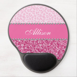 Pink Leopard Chic Diva Mouse Pad Gel Mouse Pad