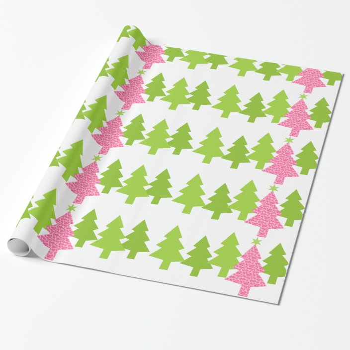 CHRISTMAS TREE LEOPARD PRINT BAUBLES WRAPPING PAPERGIFT WRAPLUXURY WRAP