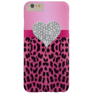 Pink Leopard Diamond Heart iPhone 6 Case
