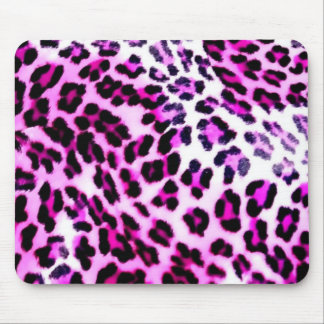 pink leopard mouse pad