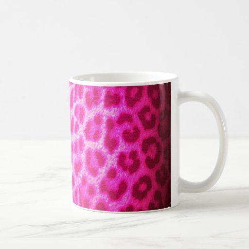 PINK LEOPARD ON STEROIDS COFFEE MUGS