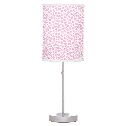Pink Leopard Pattern Print Girl Jungle Lamp