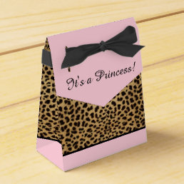 Pink Leopard Princess Baby Shower Favor Box