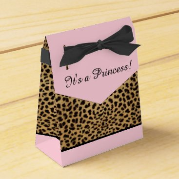 Toddler & Baby themed Pink Leopard Princess Baby Shower Favor Box