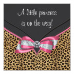 Pink Leopard Princess Baby Shower Personalized Invite