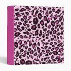 Pink leopard print 3 ring binder