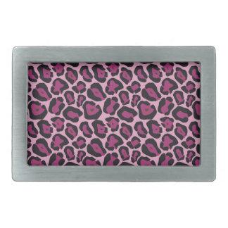 Pink Leopard Print Belt Buckle