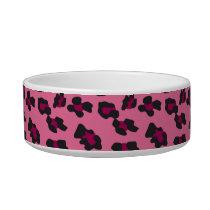 Pink Leopard Print Bowl