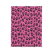 Pink leopard or cheetah spots print fleece blanket | Animal pattern
