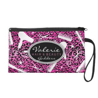 Pink Leopard Print Hair Salon Tools (Custom) Bag