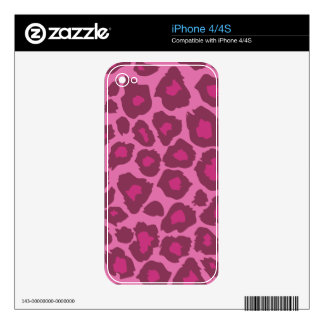 Pink Leopard Print iPhone 4 Skins