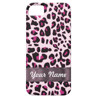 Pink leopard print iPhone 5 cover