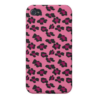 Pink Leopard Print iPhone 4/4S Cases