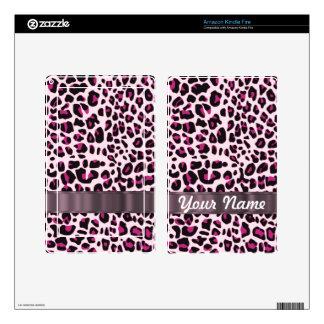 Pink leopard print kindle fire skins