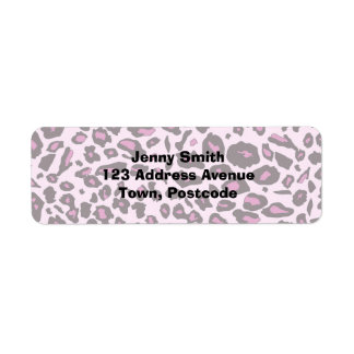 Pink leopard print labels