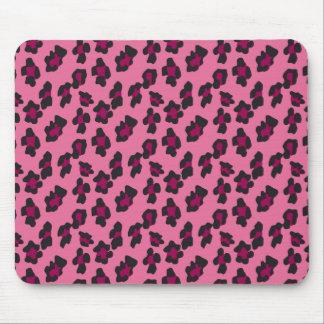 Pink Leopard Print Mouse Pad