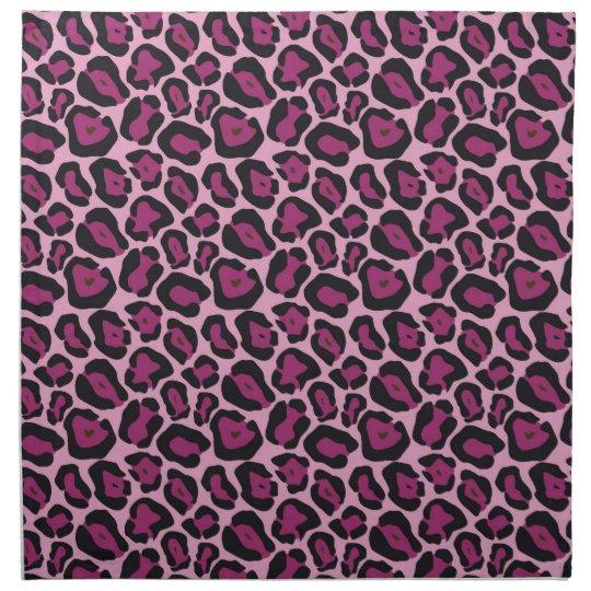 Pink Leopard Print Napkin
