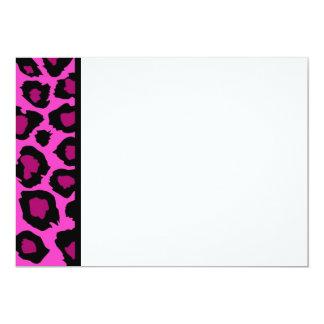 Pink Leopard Print Panel Invitation
