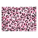 Pink Leopard Print Pattern. Announcement