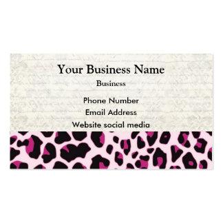 Pink leopard print pattern business card