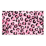 Pink Leopard Print Pattern. Business Card