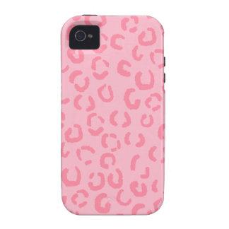 Pink Leopard Print Pattern. iPhone 4/4S Case