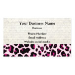 Pink leopard print pattern Double-Sided standard business cards (Pack of 100)